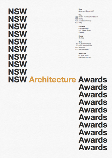 raia nsw architecture awards